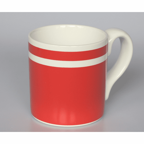 Red and White Mug by Blut's 14 oz.