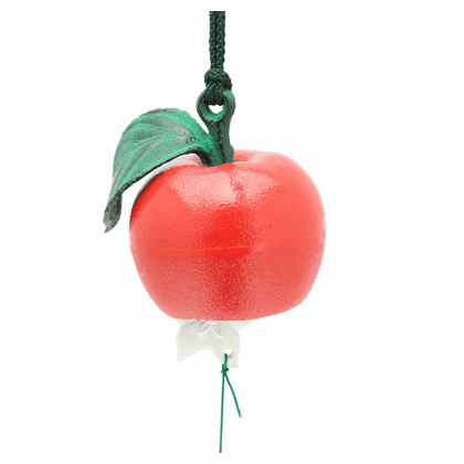 Red Apple Cast Iron Wind Chime