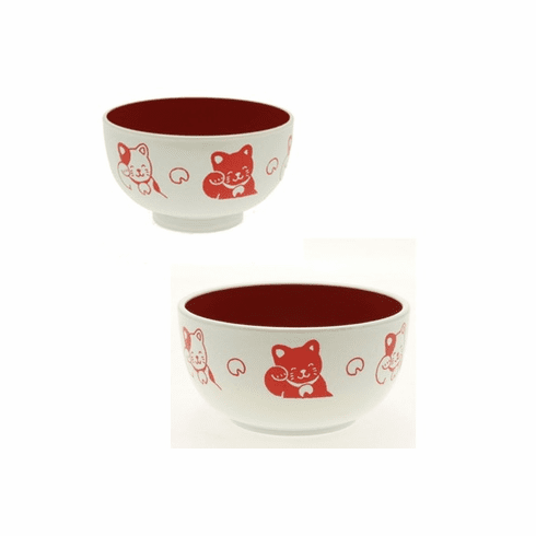 """Red Cat Soup Bowls, 4"""" or 5"""""""