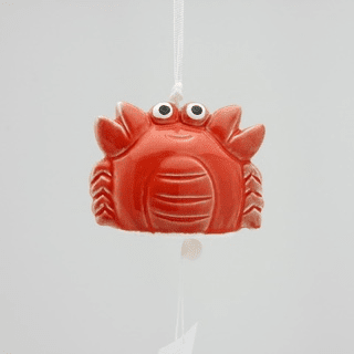 Red Crab Ceramic Wind Chime