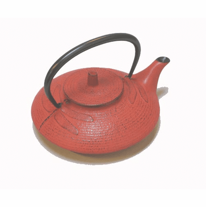Red Dragonfly Cast Iron Teapot <br>by Iwachu 16 oz.