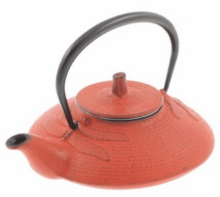 Red Dragonfly Cast Iron Teapot by Iwachu 16 oz.