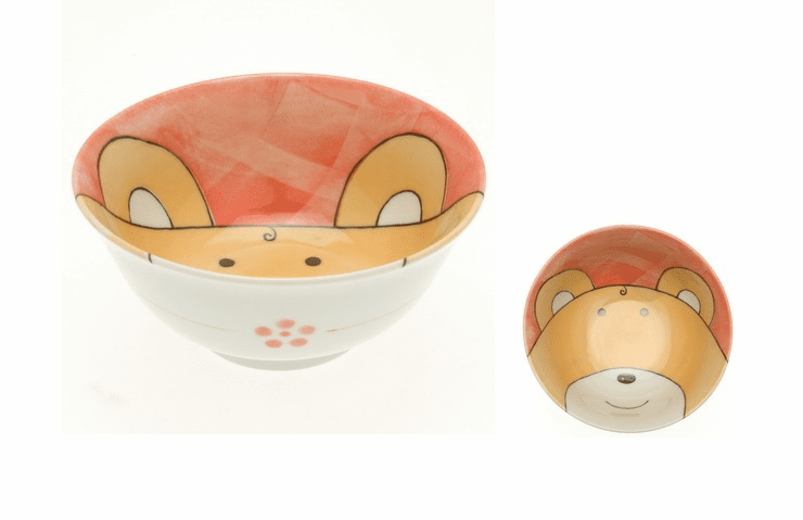 Red Gingham Bear Bowl 6""