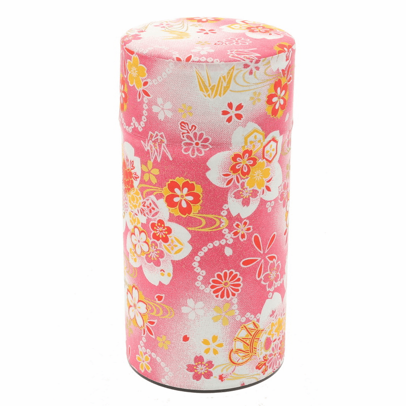 Red & Pink Sakura Tea Canister,  <br>200 Grams