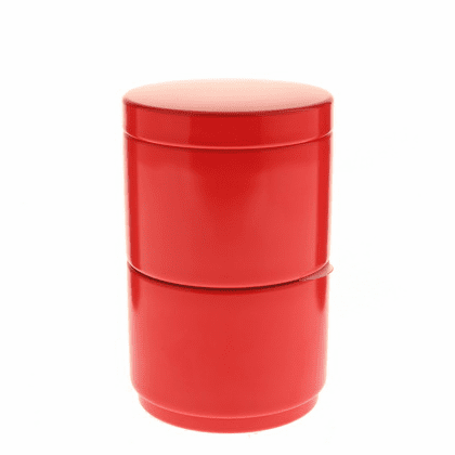 Red Stack Tea Canister, 120 Grams