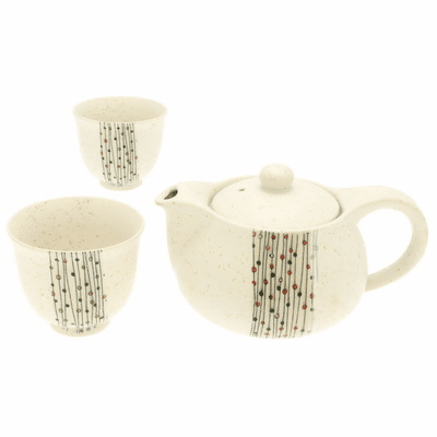 Sea Salt Raindance Ceramic Tea Set