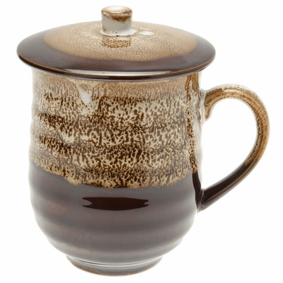 Sequoia Brown Frost Mug with Lid, 12 oz.