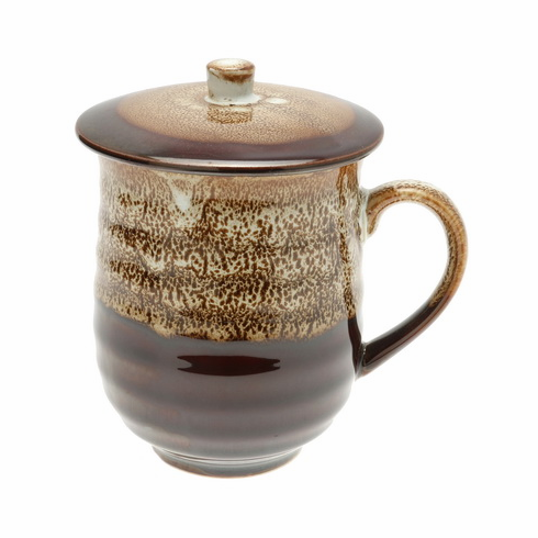 Sequoia Brown Frost Mug <br>with Lid, 12 oz.