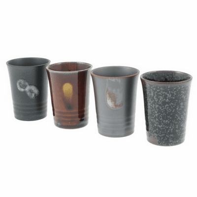 Set of Four Ceramic Sake Cups 3 oz.
