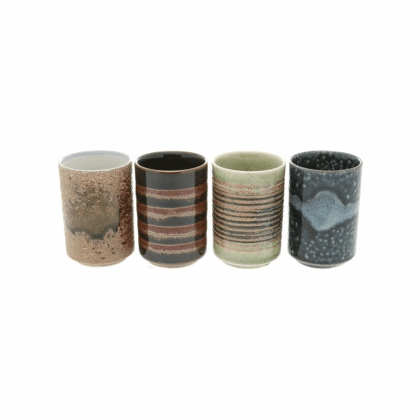 Set of Four Desert Daydreams Tea Cups 5.5 oz.