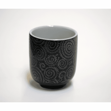 Silver Arabesque Sushi Cup, 8 oz.