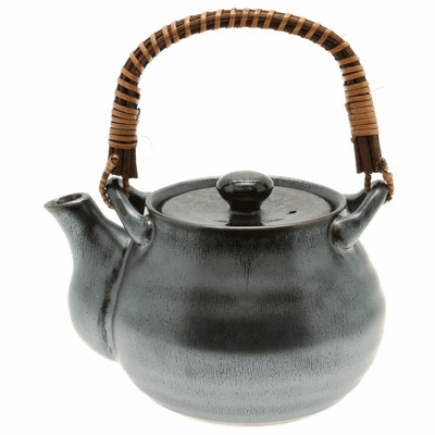 Silver Blue Granite Tea Pot