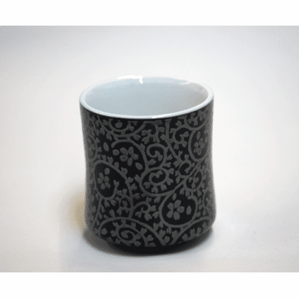 Silver Floral Vines Sushi Cup, 8 oz.