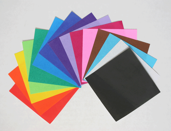 "Single Solid Color Origami Paper 6"",<br> 50 sheets"