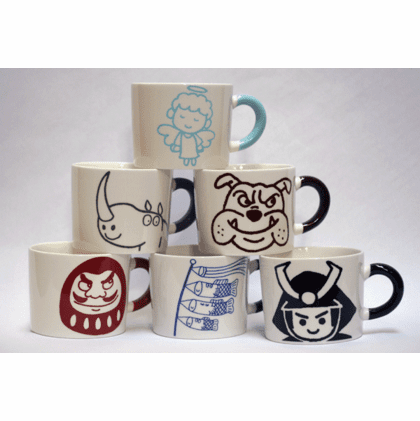 Six Different Mugs, 12 oz.
