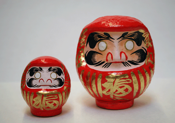 Six Different Sizes Daruma Doll