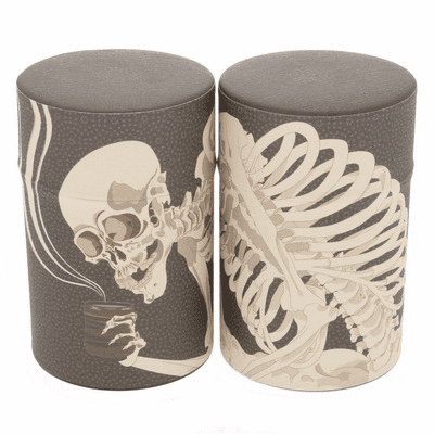 Skeleton Tea Canister, Holds 100 Grams