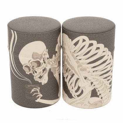 Skeleton Tea Canister,  <br>Holds 100 Grams