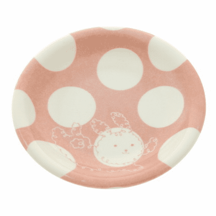 Spirolgrapy Cancy Bunny Ceramic Plate 5-3/8""