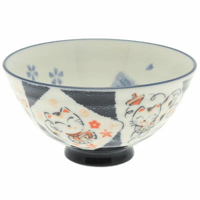 Spot & Tabby's Luck Ceramic Rice Bowl