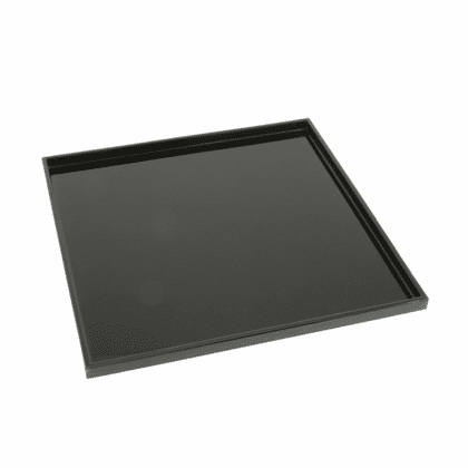 "Square Black Lacquer Ware Tray  <br>10-3/8"" Sq."
