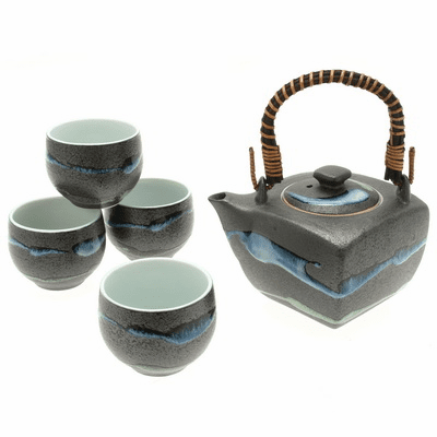 Square Daisetsuzan Stream Tea Set for Four, 28 oz.