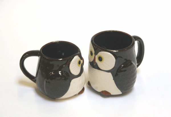 Stella Auburn/Chocolate Owl Mug, 9 oz. or 12 oz.