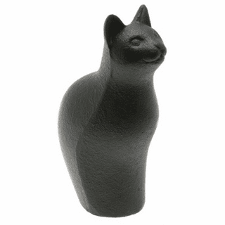 Tall Black Cat Cast Iron Paper Weight