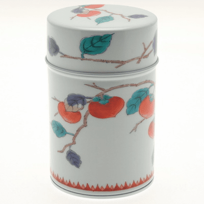 Tea Canister Arita Persimmon  <br>150 grams
