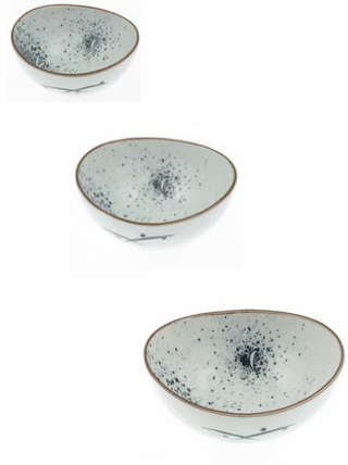 Three Different Bowls Ellipse Rabit Moon