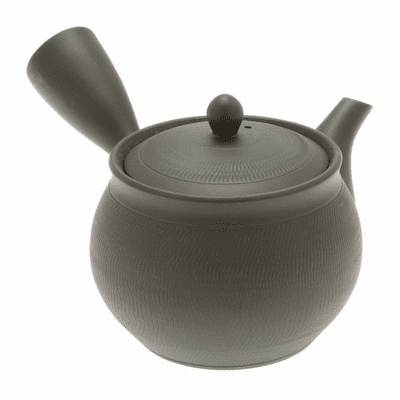 Tokoname Charcoal Tochiri Kyusu Tea Pot 14 oz.