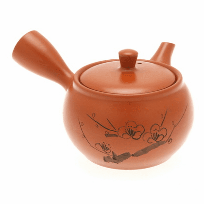 Tokoname Kyusu Tea Pot Red Plum Branch, 14 oz.