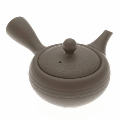 Tokoname Three Rings  Kyusu Teapot, <br>9  oz.