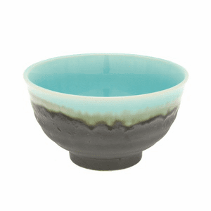 Turquoise Sky Glazed Rice Bowl 4-3/4""