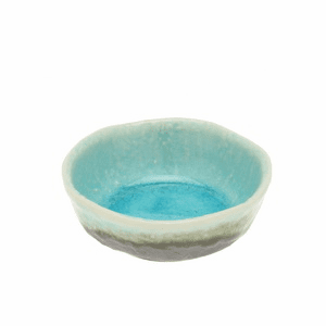 Turquoise Sky Glazed Sauce Dish <br>3-1/4""