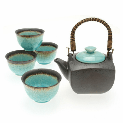 Turquoise Sky Tea Set for Four, 22 oz.