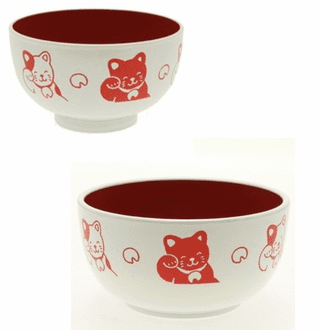 "Red Cat Soup Bowls, 4"" or 5"""