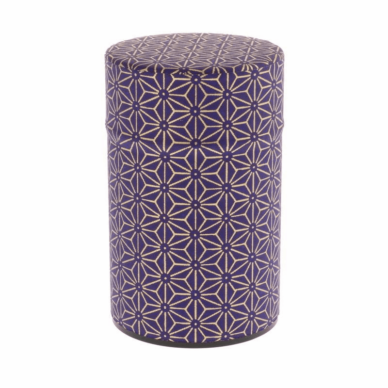 Wazome Purple & Gold Hemp Tea Canister, 150 Grams