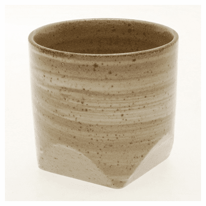 Wheat Faceted Rock Cup, 10 oz.