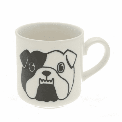 White & Black Bulldog Mug 8 oz.