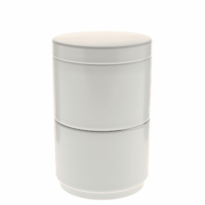 White Stack Tea Canister, 120 Grams