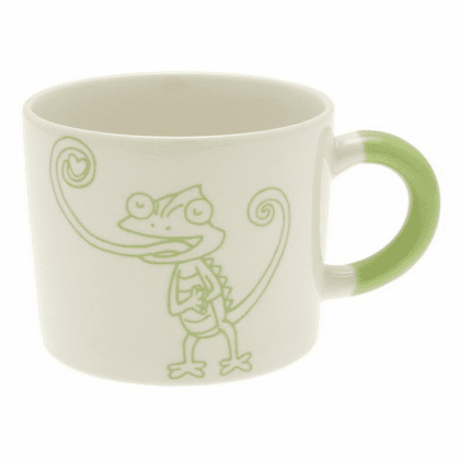 Yellow Green Chameleon Mug, 12 oz.
