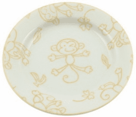 Yellow Monkey Ceramic Saucer or Plate