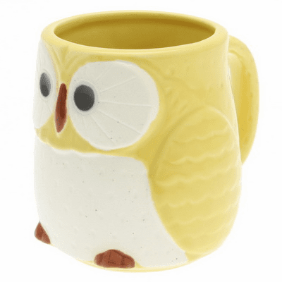 Yellow Moon Owl Mug, 12 oz.