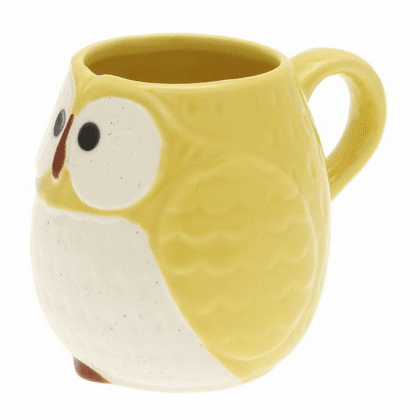 Yellow Moon Owl Mug, 7 oz.