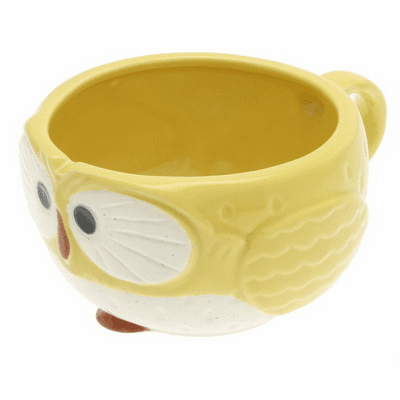Yellow Moon Owl Soup Mug, 12 oz.