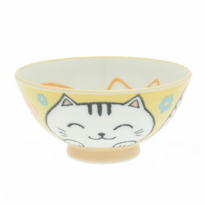 Yummy! Yellow Kitty Bowl