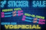 Custom Vinyl Sticker Sale