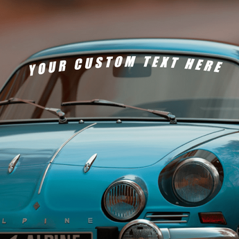 Customized Windshield Lettering Vinyl Decal