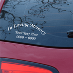 Custom Text Only In Loving Memory Decal